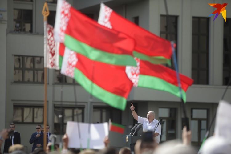 Выступление Лукашенко на митинге у Дома правительства.