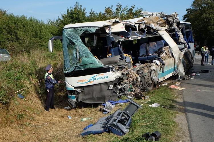 Жестокие последствия аварии под Круглово.