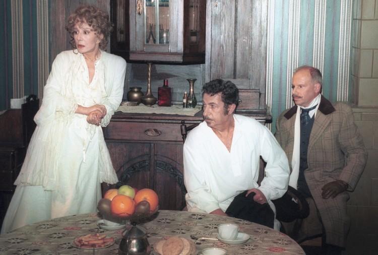 Лаврова в 2001 году на съемках фильма «Превращение» по одноименному рассказу Франца Кафки. Фото: Ираклий Чохонелидзе/ТАСС