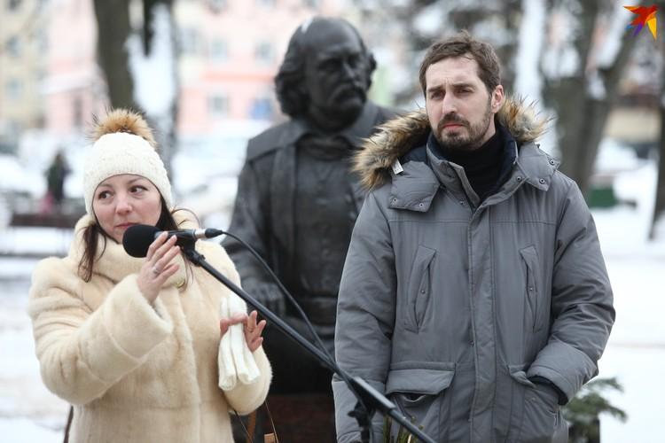 Дети Владимира Мулявина Ольга и Валерий.