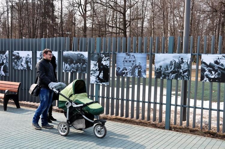 Фотовыставка «Лица победы» проходила и в Лианозовском парке
