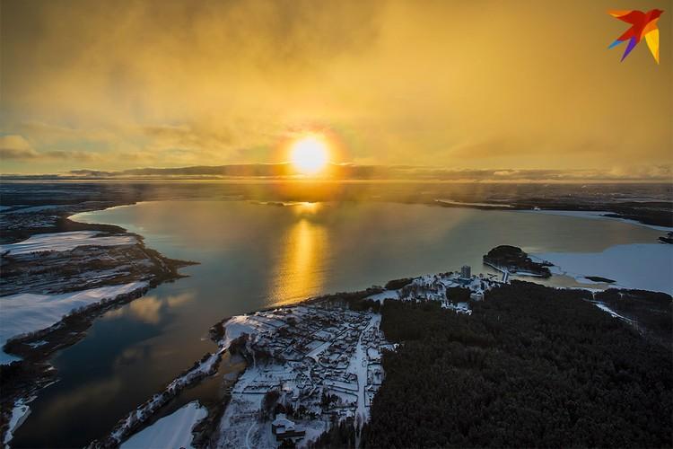Золотое солнце на Минском море.
