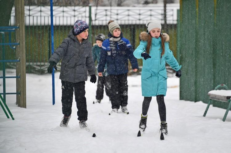 При сильном ветре занятия на лыжах отменяются
