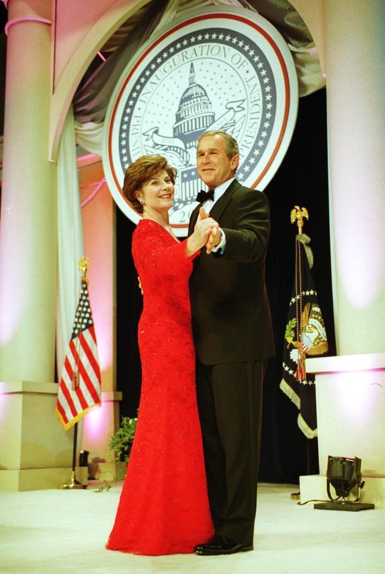 Джордж Буш-младший с женой Лорой.