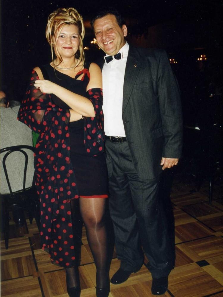 Борис Грачевский с дочкой Ксенией на церемонии вручения премии ТЭФИ-2000