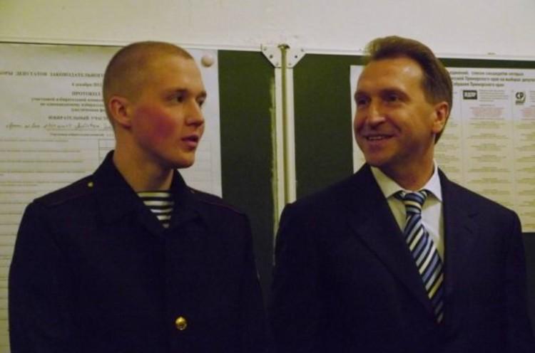 Игорь Шувалов навещал сына Евгения на флоте. Фото: Личный архив