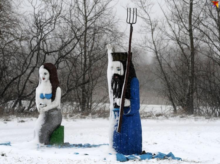 Снежное украшение к резному искусству.