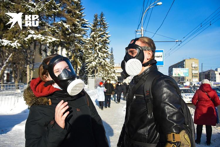 Акция протеста в Новосибирске оказалась очень малочисленной