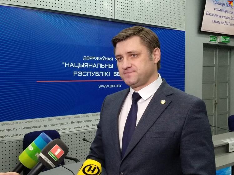 Начальник главного управления внешнеэкономической деятельности Минсельхозпрода Алексей Богданов.