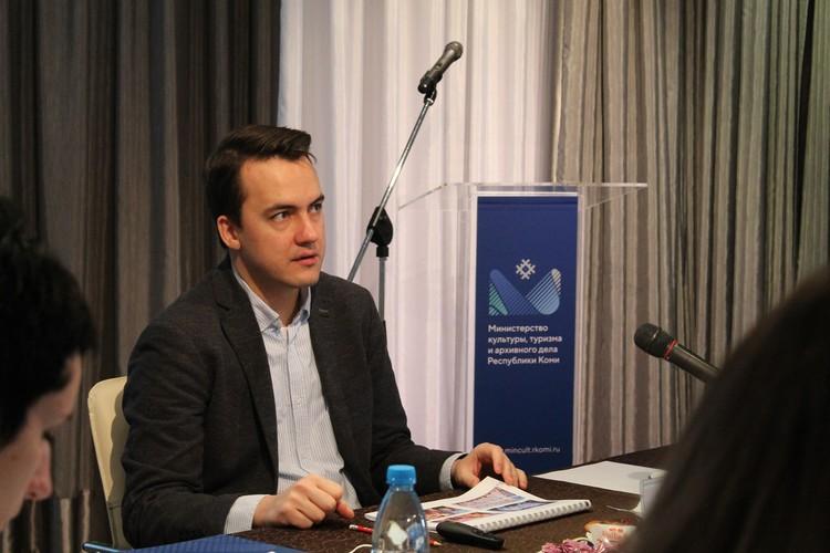 Министр культуры, туризма и архивного дела Республики Коми Сергей Емельянов.
