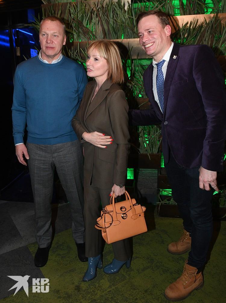 Жанна Эппле и Анатолий Журавлев появились вместе на юбилее Сергея Пенкина.
