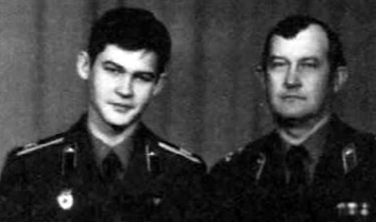 Капитан Алексей Пуликовский и его отец, генерал-лейтенант Константин Пуликовский.