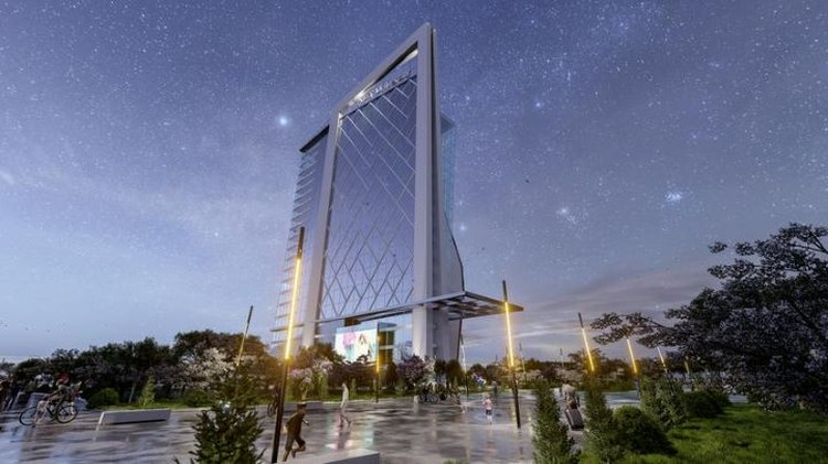 Здание университета искусственного интеллекта весьма необычно по архитектуре. Фото: inform.kz