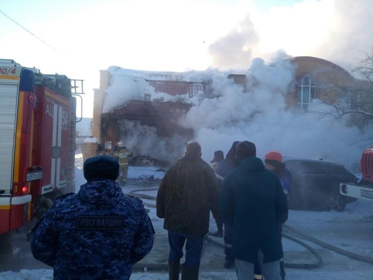 Пожар произошёл в городе Кстово. ФОТО: Управление Росгвардии Нижегородская область
