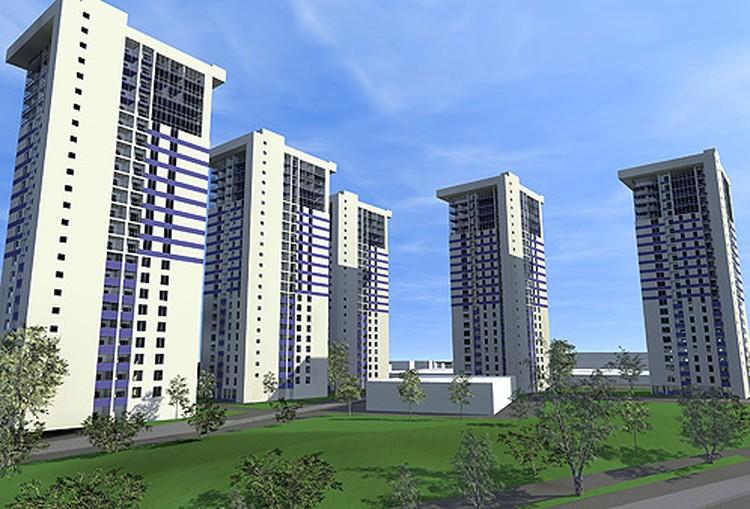 А так будет выглядеть жилой комплекс в поселке Нижний.