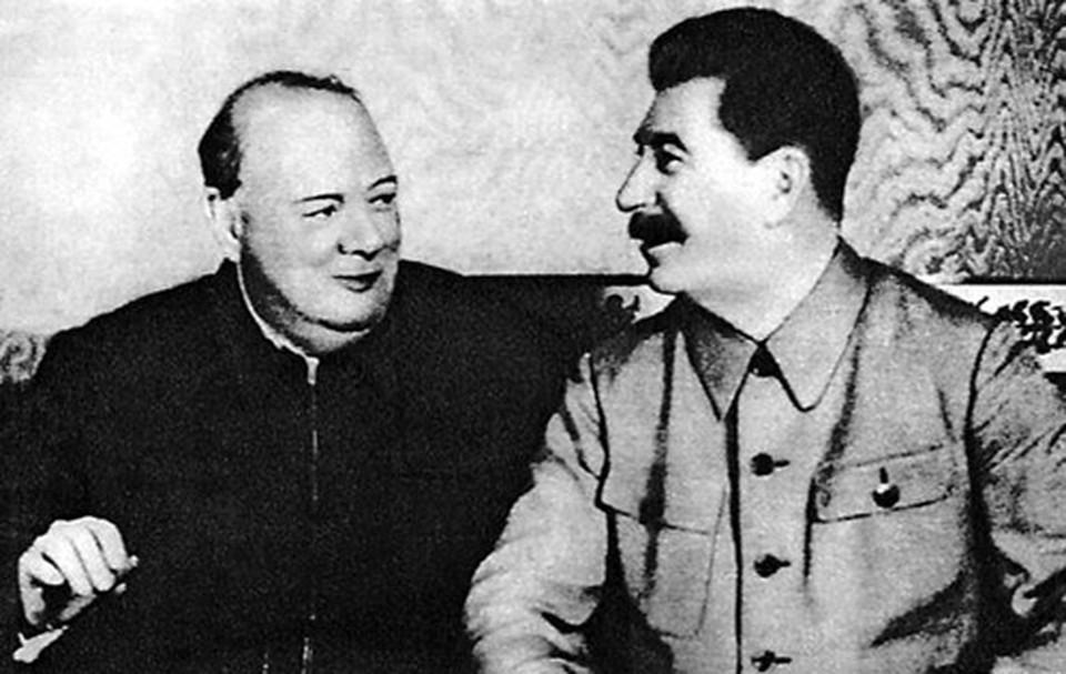 Встреча Черчилля и Сталина в Москве, 1942 г.