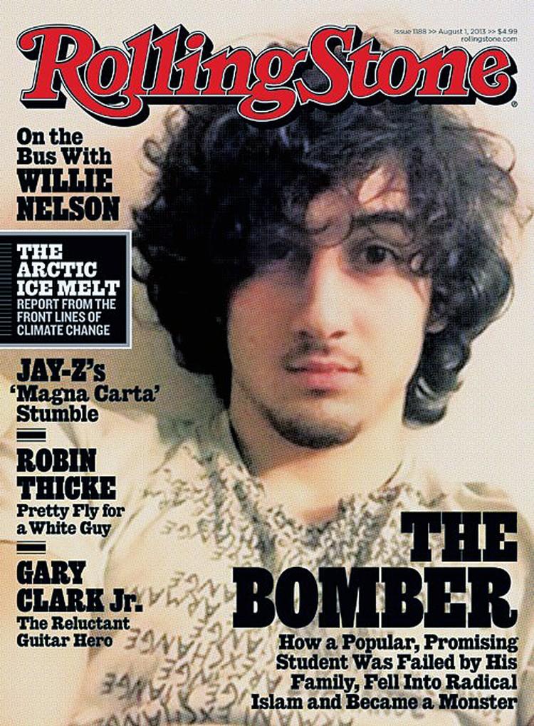 Популярный американский журнал Rolling Stone, посвященный музыке и поп-культуре, вынес на обложку очередного номера фото Джохара Царнаева