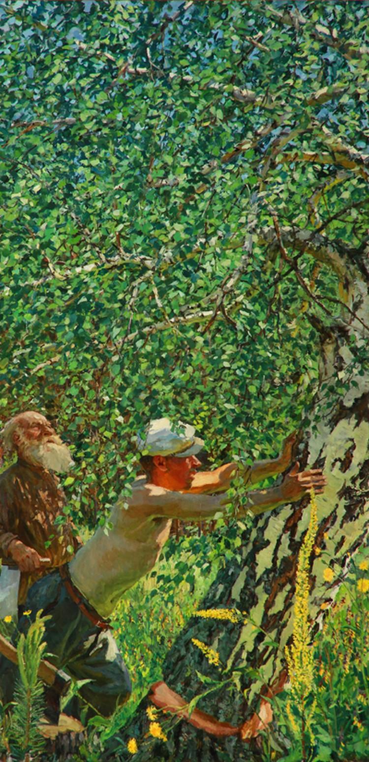 """Аркадий Пластов. """"Смерть дерева""""."""