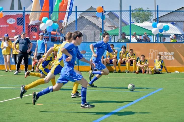 3)Строительство универсальных площадок позволяет оперативно решать проблему нехватки спортивных объектов в регионах.