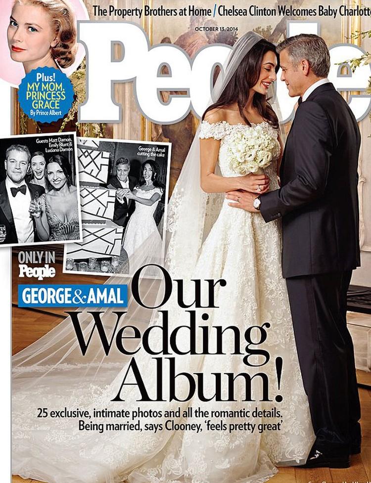 Невеста Клуни все-таки пошла к алтарю в платье от Oscar de la Renta.