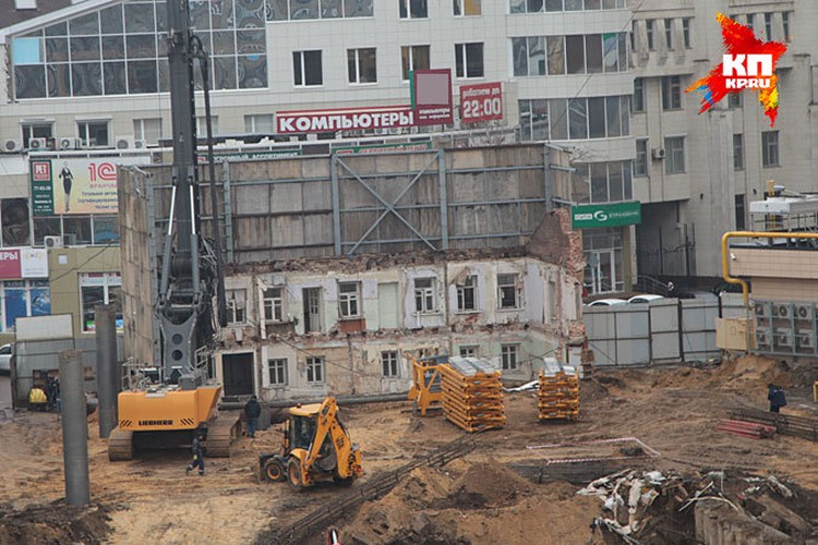 То, что осталось от Дома Балашова в декабре 2013-го...