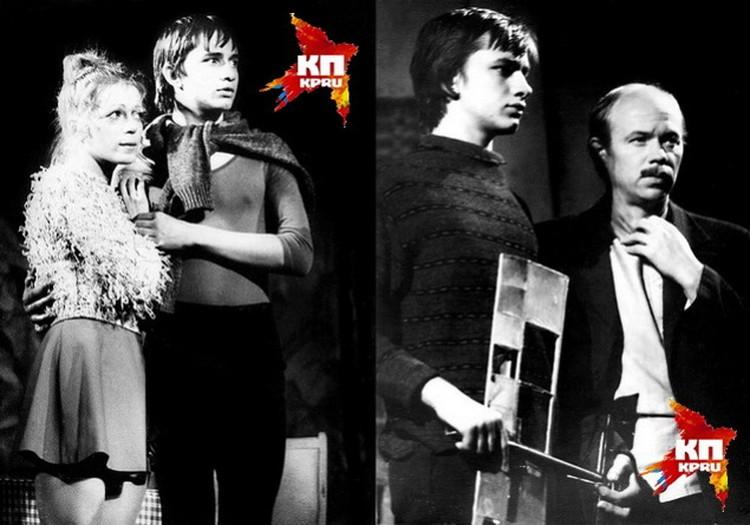 Первая роль Андрея Звягинцева - лисенок Людвиг Четырнадцатый. Снимок сделан в 1982 году в новосибирском ТЮЗе во время спектакля «Никто не поверит». Справа - еще один спектакль 1982 года, в котором Звягинцев был задействован, - «Не помню».