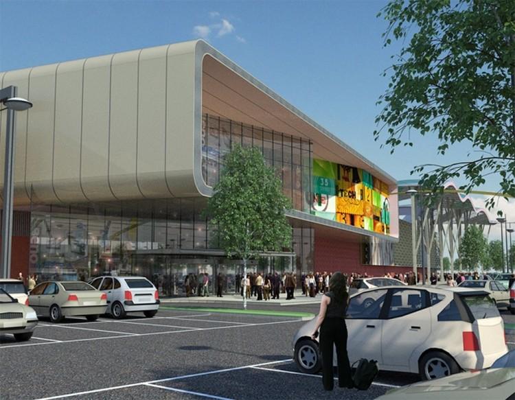В ТРЦ разместятся магазины и кинотеатр. Проект: «РосЕвроДевелопмент»