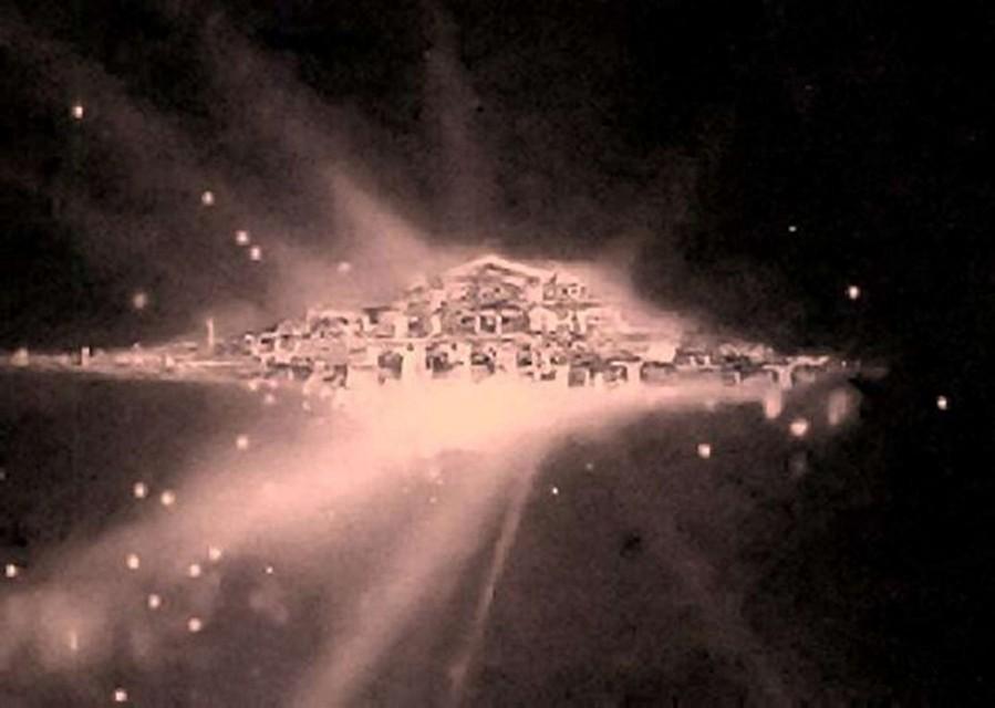 """Снимок """"Обители Бога"""", якобы сделанный телескопом НАСА и случайно просочившийся в печать."""