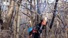 Спасатели МЧС очищают мост Русский на высоте 300 метров