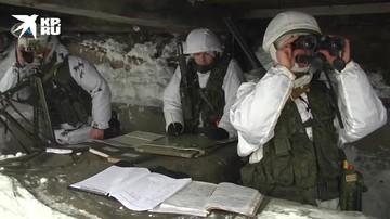 Учение артиллерийских расчетов в Заполярье
