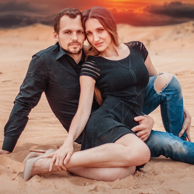 Алексей Янин с супругой Дарьей