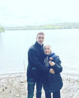 Алексей со своей бабушкой