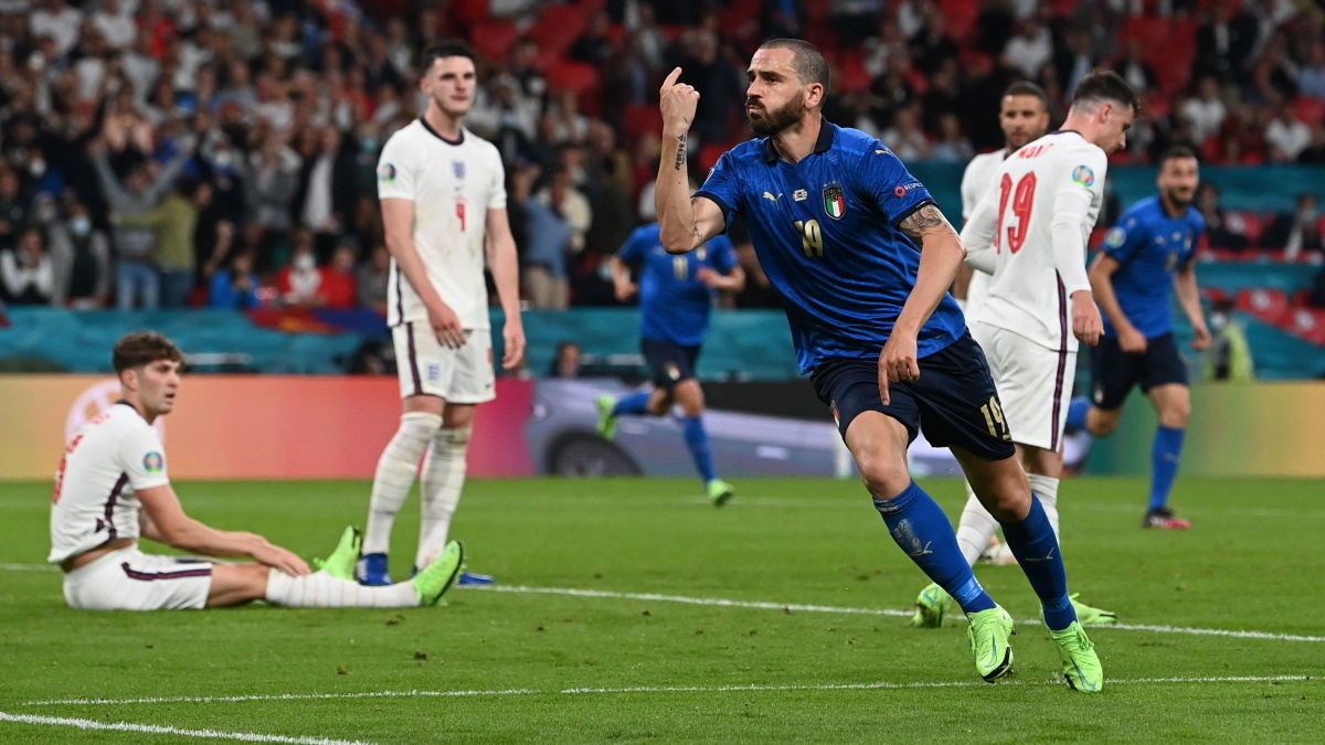 Леонардо Бонуччи забил гол в финале Евро-2020. Фото: REUTERS
