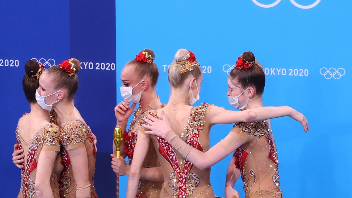 Гимнастки сборной России после выступления. Фото: REUTERS