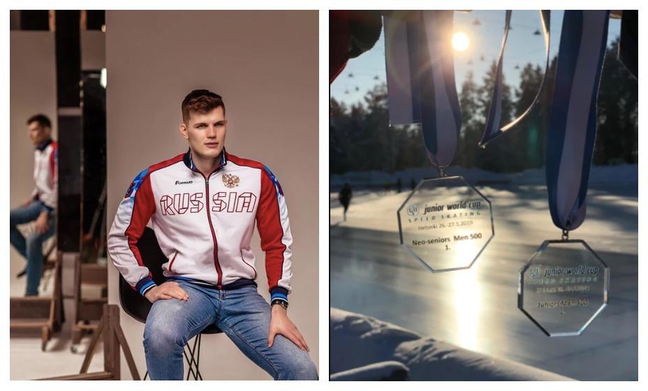 Конькобежец Руслан Захаров скончался в результате аварии. Фото: Социальные сети